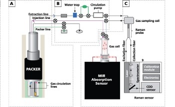 Monitoring of Soil Gases in CO2 Sequestration with Raman and IR Spectroscopies