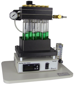 FlexiVap™ Work Station with Vacuum Manifold for Analytical Nitrogen/Air Evaporators from Glas-Col