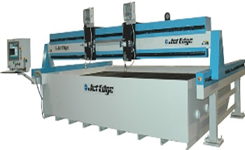 Mid Rail Gantry Waterjet System from Jet Edge