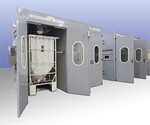 Hosokawa Micron Engineers Are Riding High on New Buggy Fill/Weigh Booth