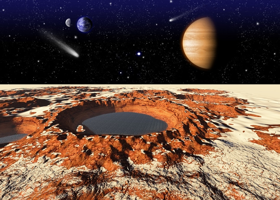 Study on How Mimetic Martin Water Could Exist on the Martian Surface