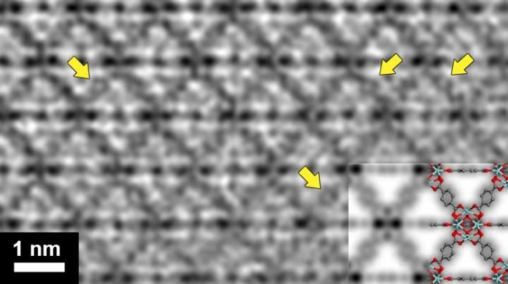 Atomically Resolved Images of Beam-Sensitive Materials