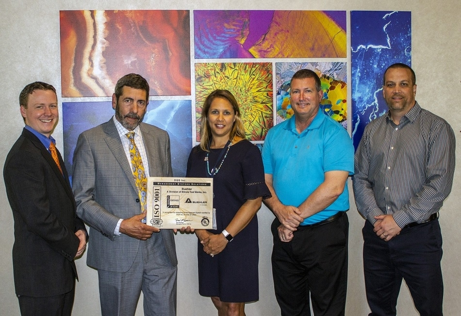 Buehler Celebrates 20 Consecutive Years of ISO Certification with DQS Inc.