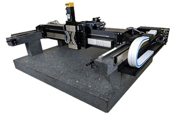 Hybrid Gantry Stage provides Precision XY/XYZ Motion with Linear Motors, Air Bearings, and Ball Bearings