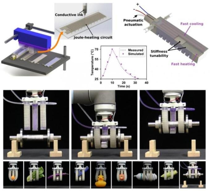 Researchers Propose Hybrid Multimaterial 3D Printing Method to Create Fast Response, Stiffness-Tunable Soft Actuators