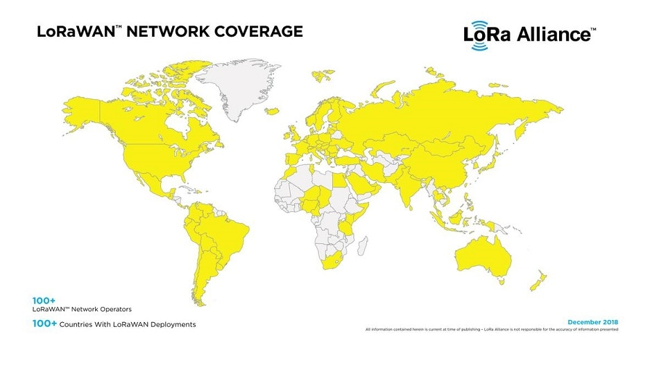 LoRa Alliance Passes 100 LoRaWAN™ Network Operator Milestone with Coverage in 100 Countries