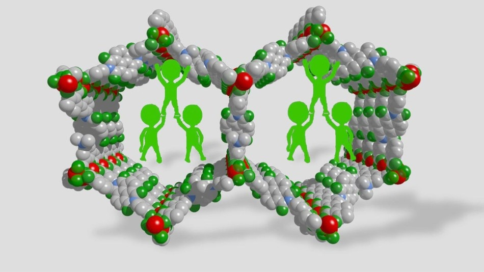Incorporation of Polymer Prevents Metal-Organic Frameworks from Collapsing