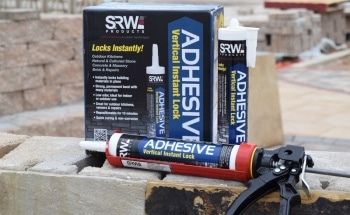 SRW Products Launches Innovative New Adhesive Technology for Vertical Hardscape Applications