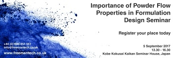 Register For Our Seminar Today – Importance of Powder Flow Properties in Formulation Design