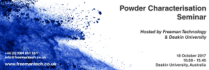 Save the date! Powder Characterisation Seminar - 18 October 2017