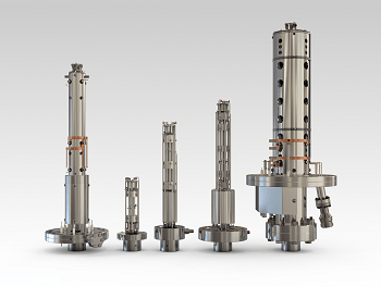 Quadrupole probe analysers for UHV/XHV
