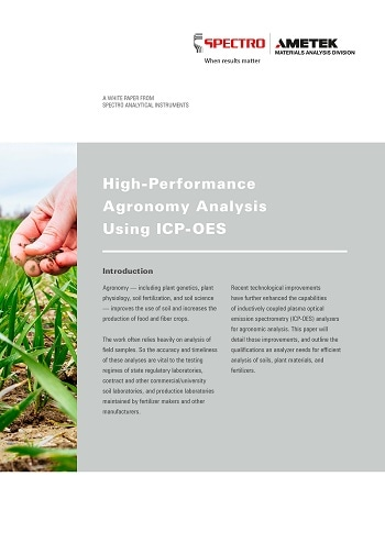 New White Paper Discusses High-Performance Agronomy Analysis Using ICP-OES