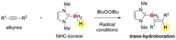 Scientists Successfully Develop Trans-Hydroboration Reactions of Alkynes Based on Radical Chemistry