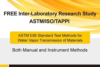 Labthink FREE Round Robin Inter-Laboratory Research Study - ASTM E96 Method for WVTR of Materials