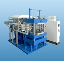 RUCKS Highly Energy Efficient Thermoforming-Press KV 297 for Short Cycle Times, and Reproducible Results