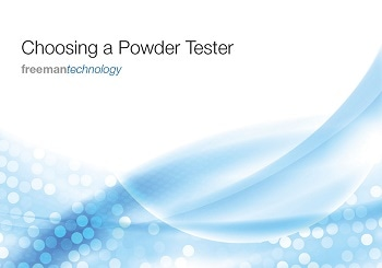 New e-books from Freeman Technology offer updated expert advice on powder tester selection