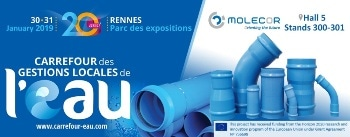 "Molecor will be Present at the ""20e Carrefour des Gestions Locales de l'Eau"" next 30th and 31th January in Rennes, France"