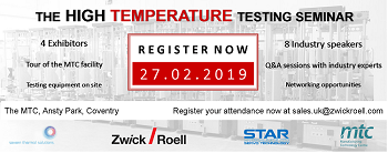 ZwickRoell UK Seminar for High-Temperature Testing