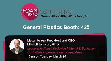 General Plastics President/CEO Mitchell Johnson, Ph.D., to Speak on Leadership Panel at the Foam Expo Conference March 26 – 28, 2019