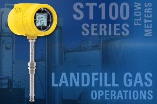 Dirty, Wet Landfill Gas Meets Its Match in the Rugged ST100 Series Thermal Flow Meter