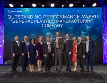 "General Plastics Manufacturing Company Receives ""Supplier of the Year"" Award from Boeing"