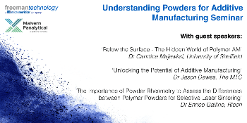 Invitation to Understanding Powders for Additive Manufacturing Seminar