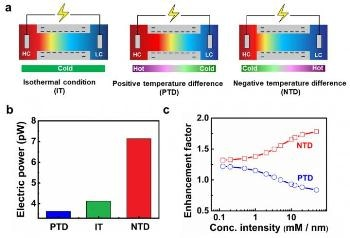 Transmembrane Temperature Differences Increase Salinity Gradient Energy Production