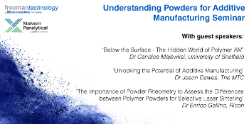 Understanding Powders for Additive Manufacturing Seminar - 24 September 2019