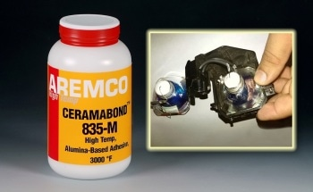 Ceramabond 835-M Bonds High-Temp Halogen Lamps