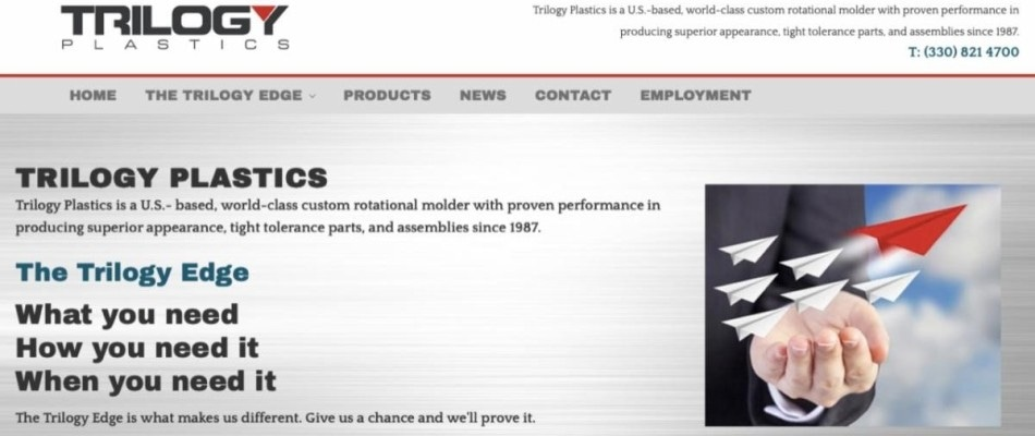 Trilogy Plastics Launches New Website Showcasing its Diverse Rotomolding Capabilities