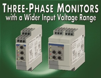 Three-Phase Monitoring Relays with a Wider Input Voltage Range