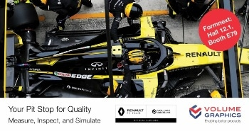 Volume Graphics Enters Supplier Agreement with Renault F1 Team