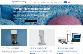 Freeman Technology Launches a New Website: An Unrivaled Powder Testing Resource from the Global Leaders