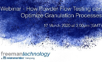 Webinar – How Powder Flow Testing Can Optimize Granulation Processes