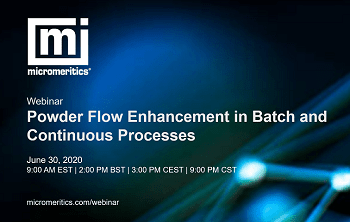 Webinar: Powder Flow Enhancement in Batch and Continuous Processes