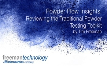 Reviewing the Traditional Powder Testing Toolkit