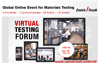 ZwickRoell Virtual Testing Forum Offers Live Demos and Consultation with Experts in Materials Testing