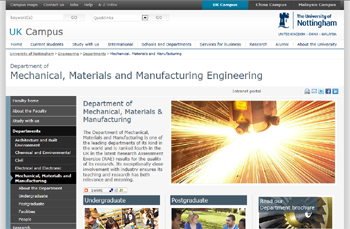 Department of Mechanical, Materials and Manufacturing Engineering, University of Nottingham