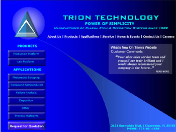 Trion Technology logo.