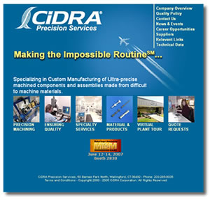 CiDRA Precision Services - Machining of Materials
