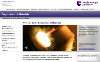 Loughborough University, Department of Materials
