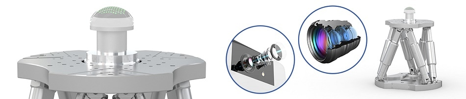 6D Non-Contact Surface Metrology for Aspheric Optics with 6-Axis Hexapod Motion System