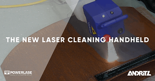 The new Vulcan laser cleaning handheld from Andritz Powerlase - Rust Cleaning