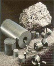 Boron nitride powder and shapes (photo courtesy of Lucideon)