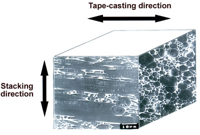 "AZojomo - The ""AZo Journal of Materials Online"" Microstructure of polished surfaces of tape-casted and ultra-high temperature HIPed specimen with  5 mass% Y2O3 additive and 5 vol% ß-Si3N4 single crystal particles."