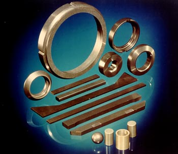 A selection of SiAlON seals and bearings