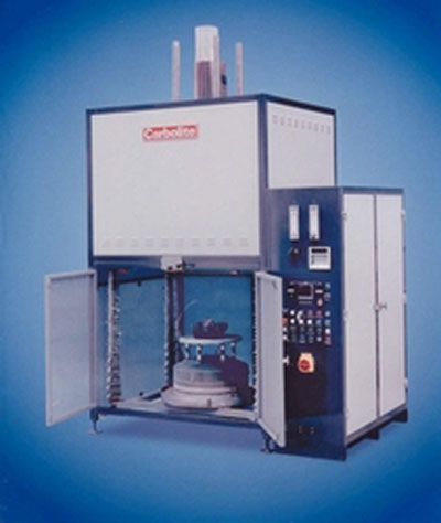 Industrial elevator hearth furnace for rapid prototyping