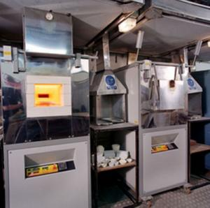 Cupellation (assay) furnace (CF) for the precious metals market