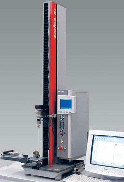 zwicki Z2.5 equipped with appropriate fixturing to determine the coefficients of friction (COF)