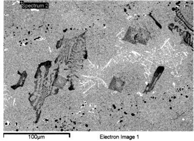 AZoJoMo – AZoM Journal of Materials Online : SEM EDS spectrum from MC carbides in base metal